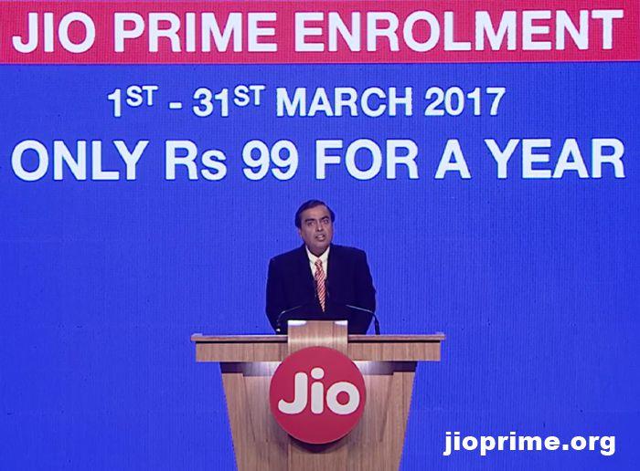 JIO PRIME enrolment