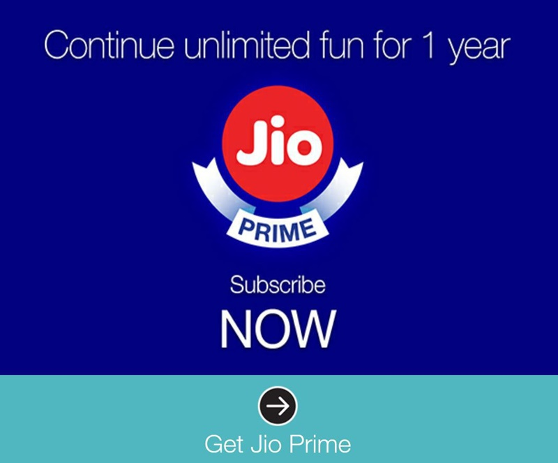 Jio Prime Membership Subscription