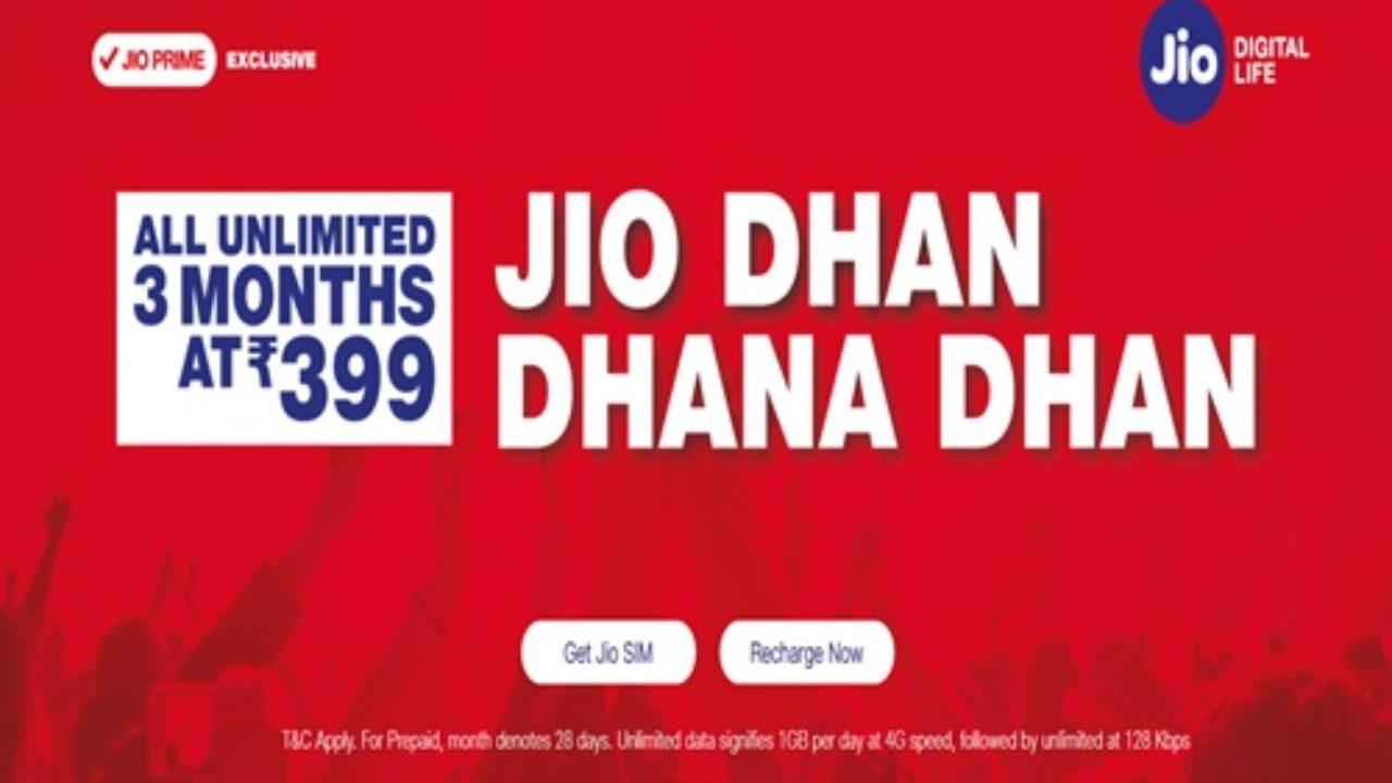 JIO New Recharge Plans For 4G Data & JioFi - Unlimited Jio