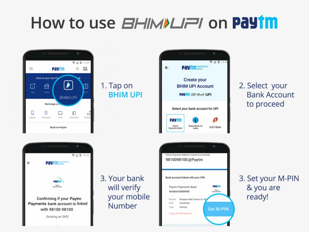How to Use BHIM UPI on Paytm