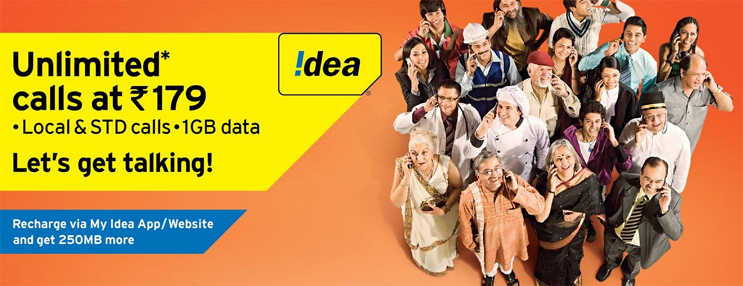 Idea Rs 179 Recharge offer