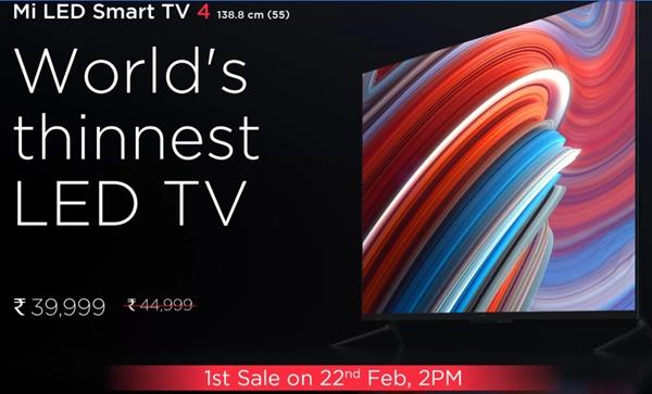 Mi Tv 4 Buy Online Booking Flipkart Flash Sale Rs 39999