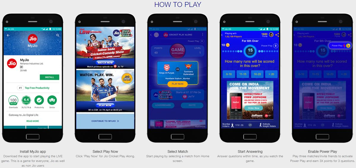 how to play Jio Cricket Play Along