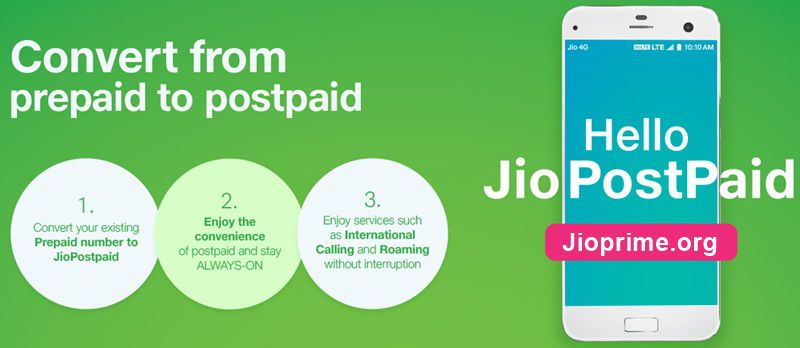 Convert From Jio Prepaid to Postpaid
