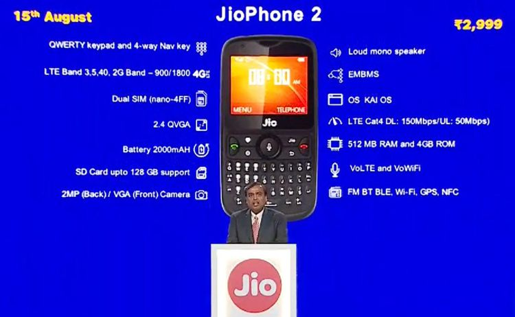 Jio Phone 2 features