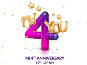 Xiaomi Mi Rs 4 Flash Sale Booking Online – Mi 4th Anniversary Offers, Discounts/ Deals Buy Now