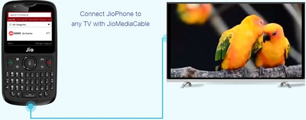 jio phone 2 content on any TV with JioMediaCable