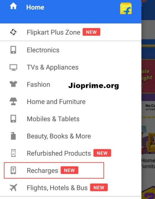 flipkart recharge