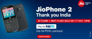 jio phone 2 10th sept