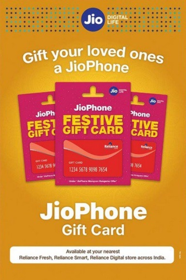 Jio Phone Festive Gift Card