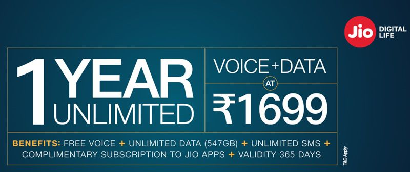 jio recharge latest offer 2019