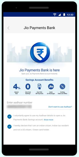 Jio Payments Bank step-5