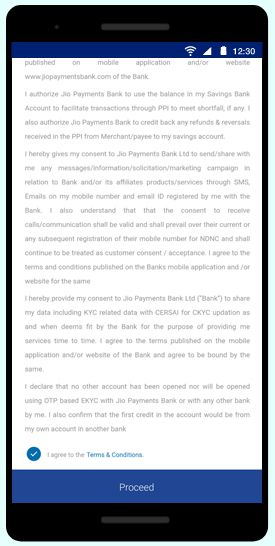 Jio Payments Bank step-8