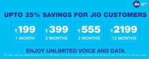 jio latest plans dec 2019